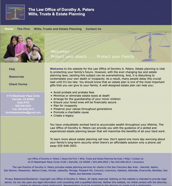 Dorothy Peters Law website image and link