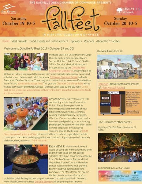 Danville Fallfest website image and link