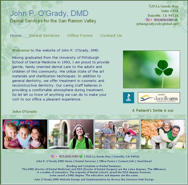 John O'Grady DMD Website image  and link