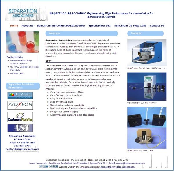 Separation Associates  website image