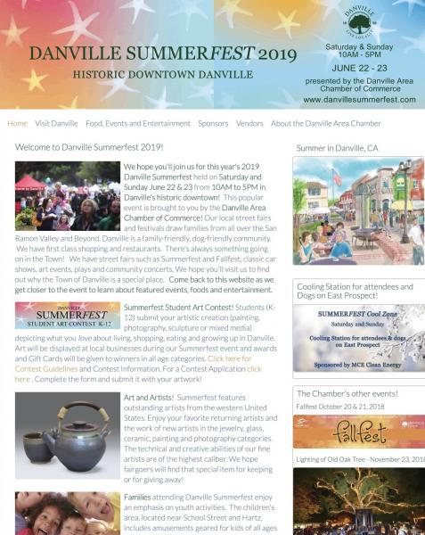 Danville Summerfest website image and link