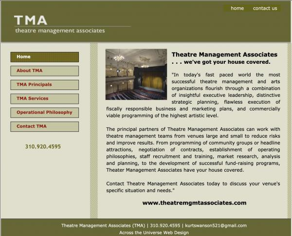 Theatre Management Associates  website image and link