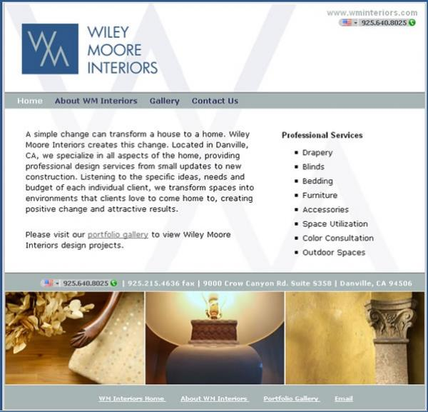 WM Interiors website image and link
