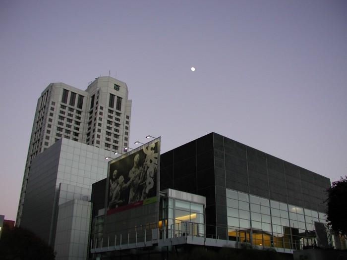 Moon Over Yerba Buena - Center for the Arts, San Francisco